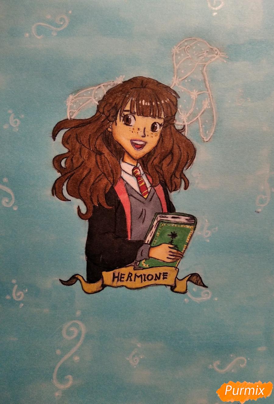 Рисуем Гермиону с книгой в аниме стиле - шаг 15