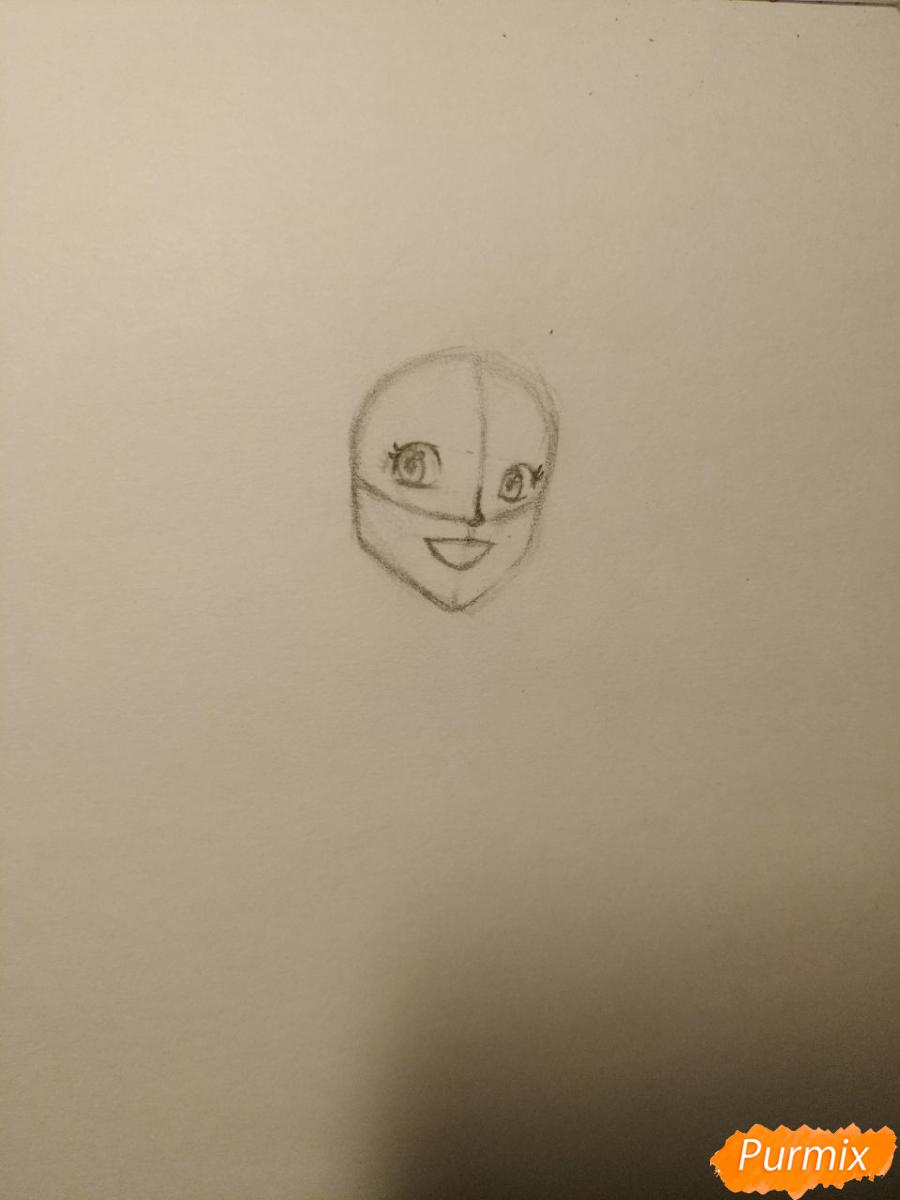 Рисуем Гермиону с книгой в аниме стиле - шаг 3