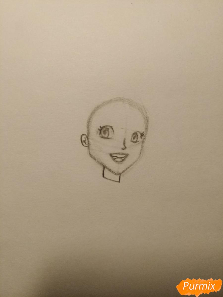Рисуем Гермиону с книгой в аниме стиле - шаг 4