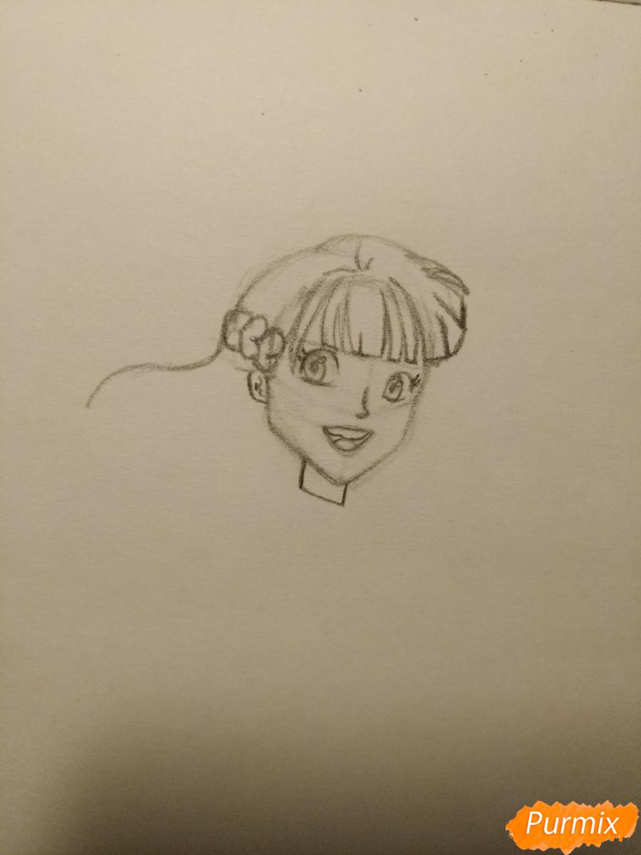 Рисуем Гермиону с книгой в аниме стиле - шаг 5
