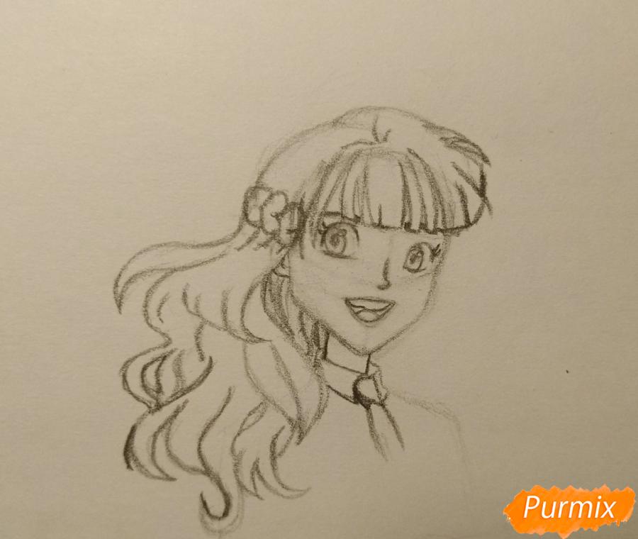 Рисуем Гермиону с книгой в аниме стиле - шаг 6
