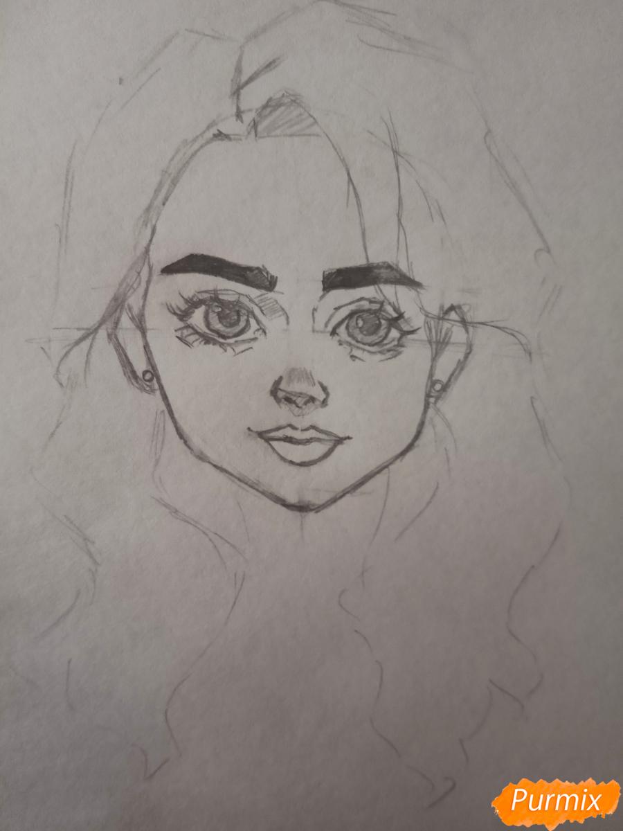 Портрет Hermione Granger - шаг 10