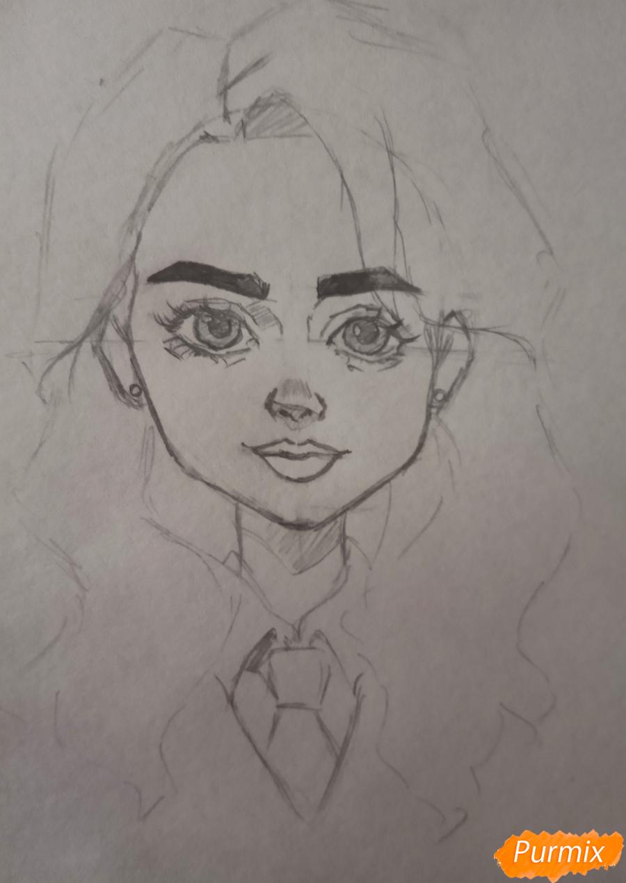 Портрет Hermione Granger - шаг 11