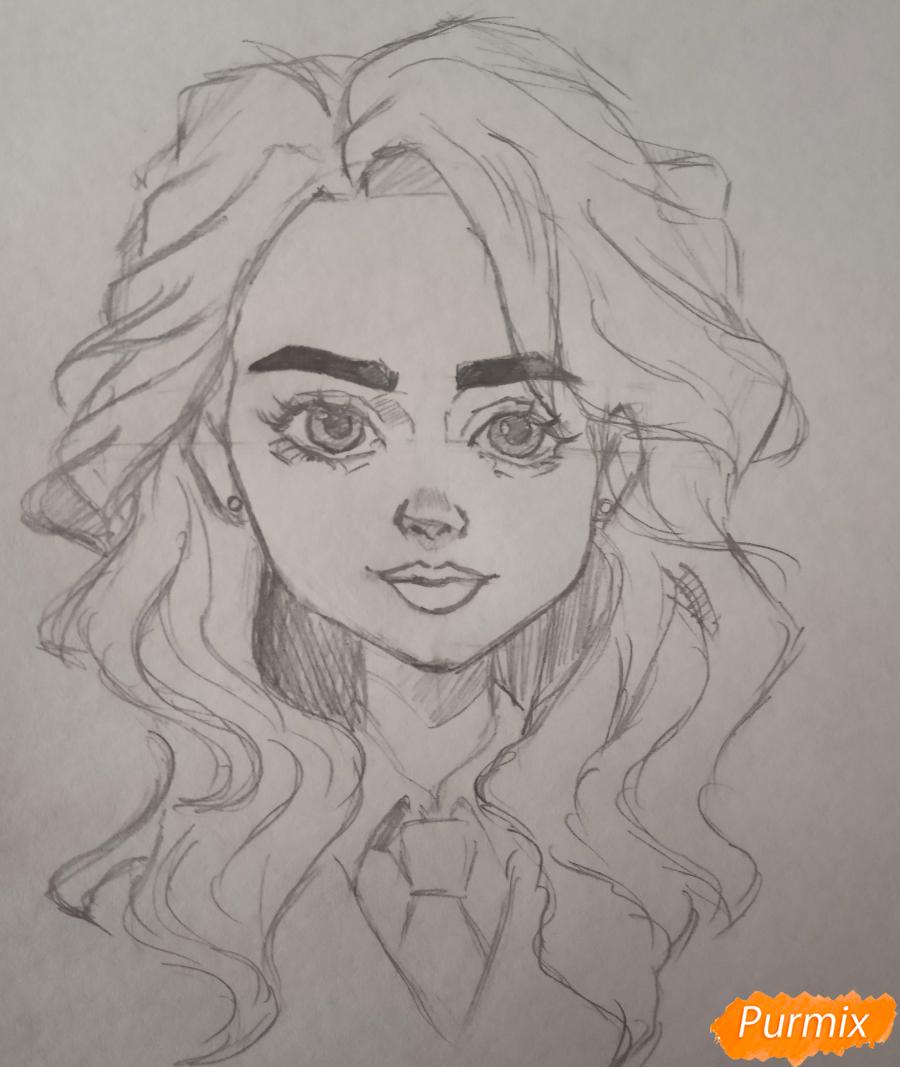 Портрет Hermione Granger - шаг 13