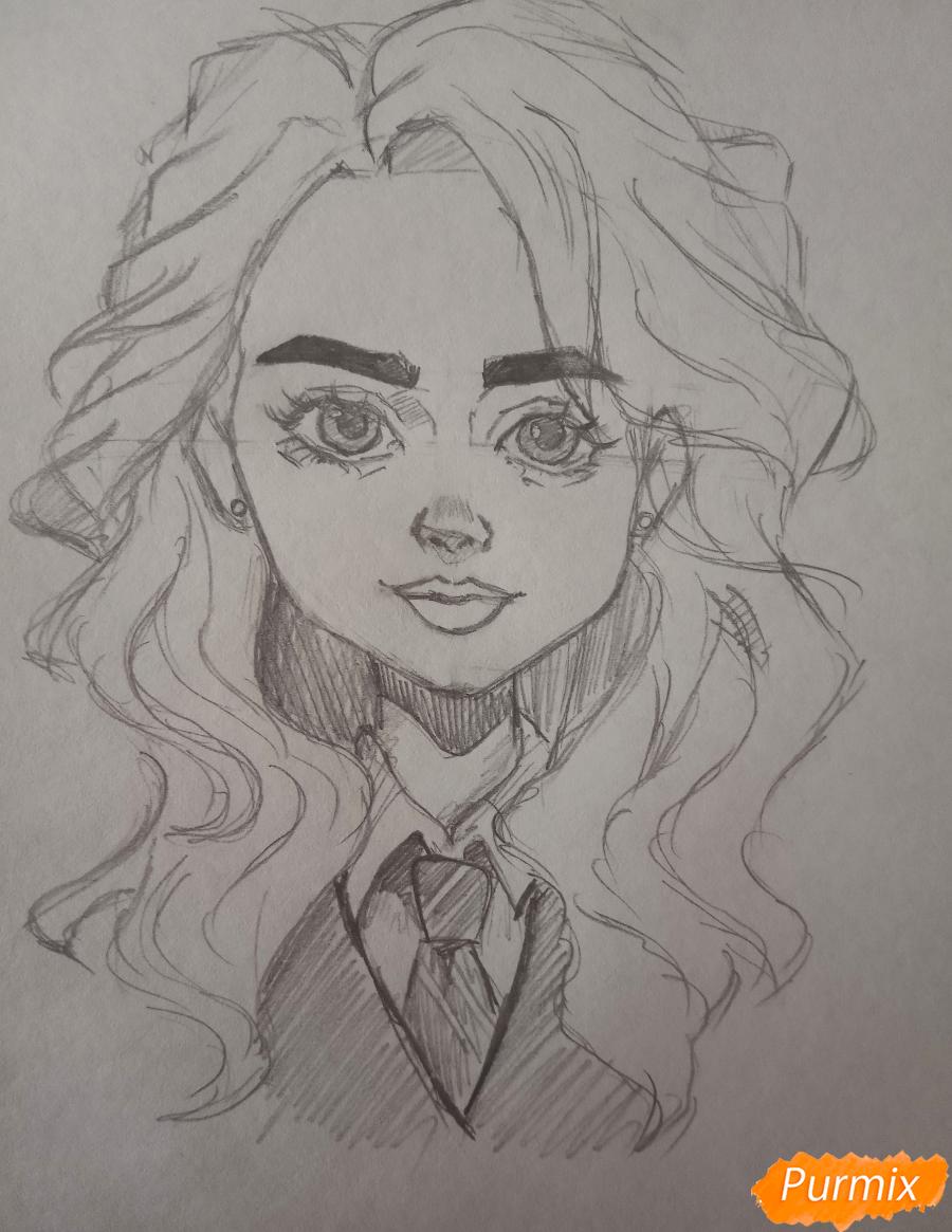 Портрет Hermione Granger - шаг 14
