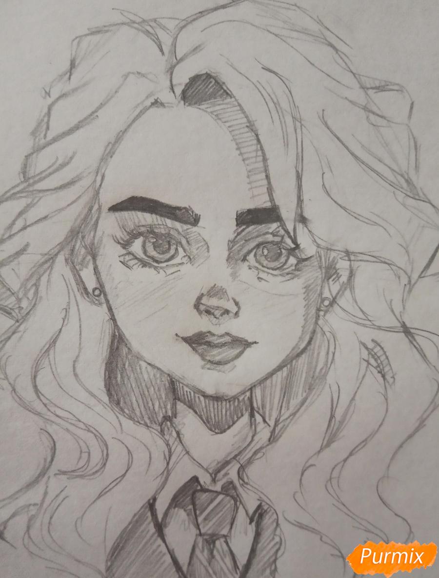 Портрет Hermione Granger - шаг 15