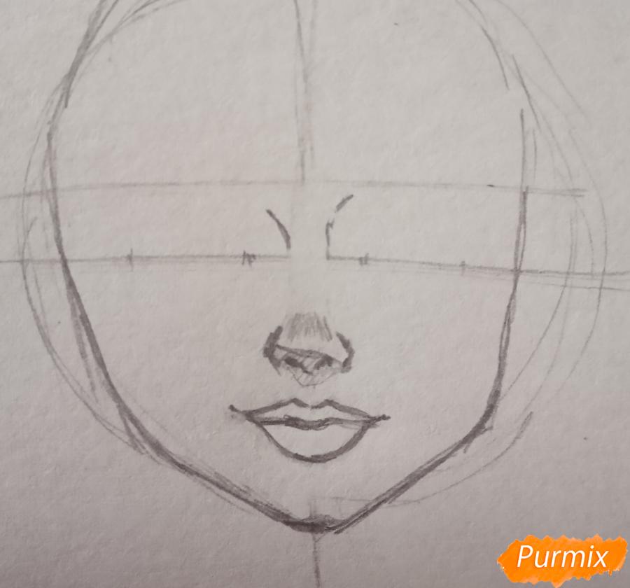 Портрет Hermione Granger - шаг 5
