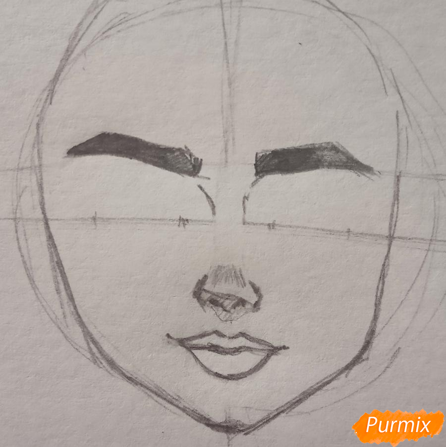 Портрет Hermione Granger - шаг 6