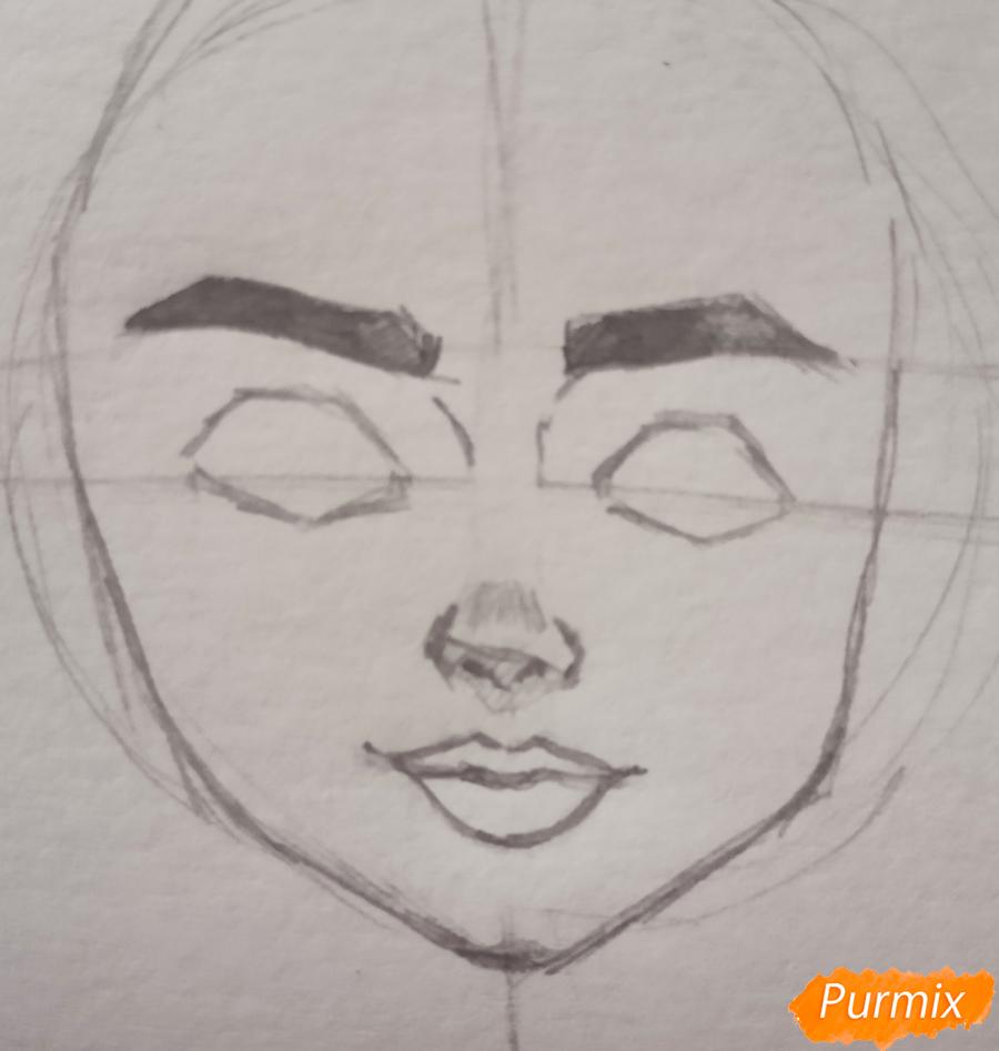 Портрет Hermione Granger - шаг 7