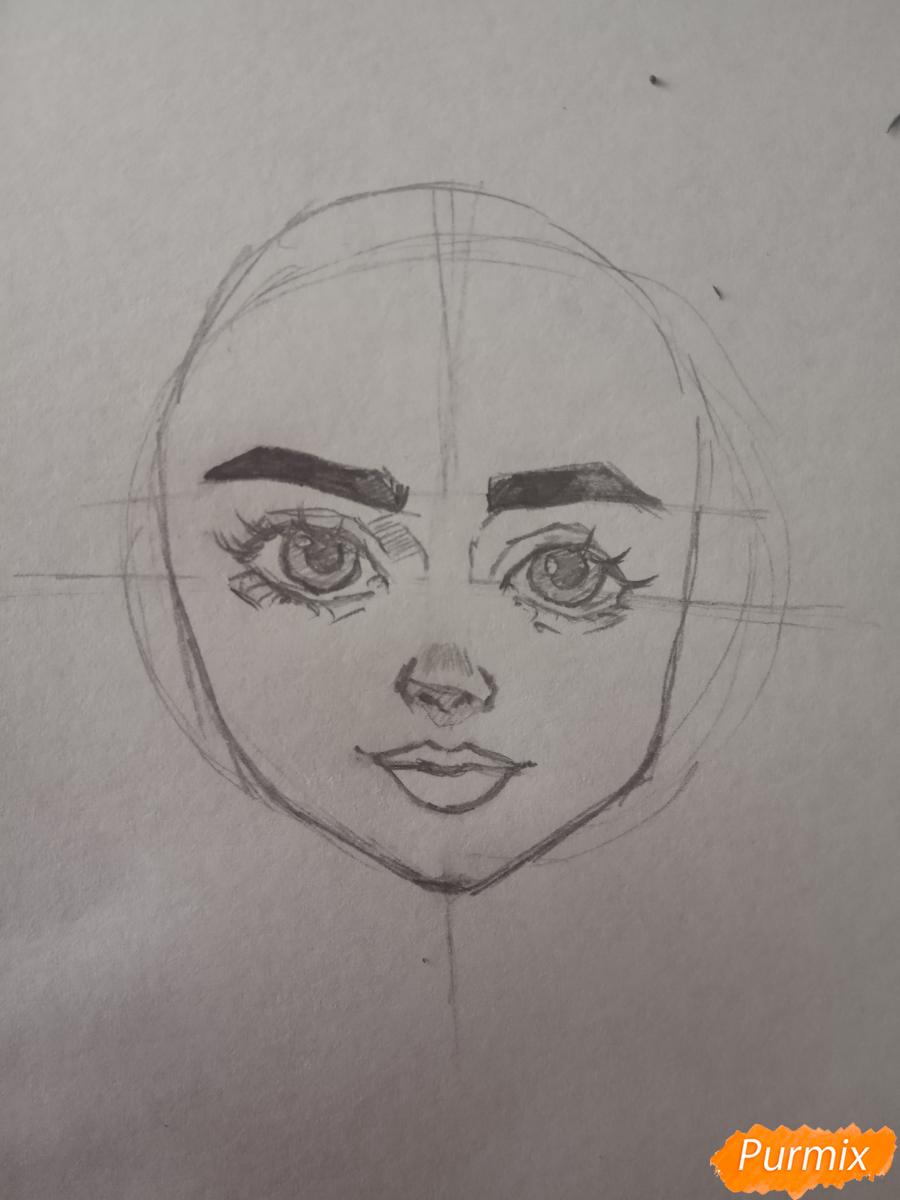 Портрет Hermione Granger - шаг 8