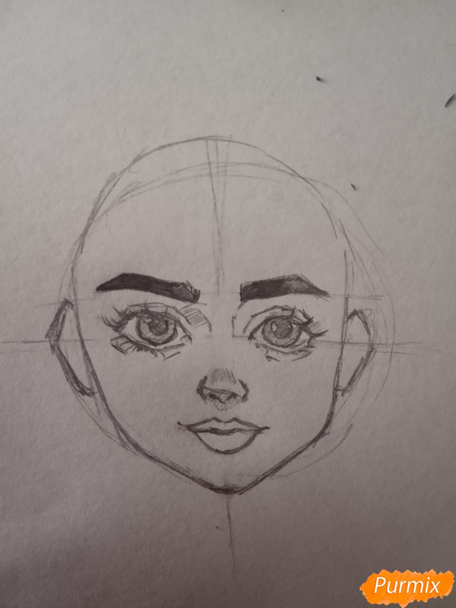 Портрет Hermione Granger - шаг 9