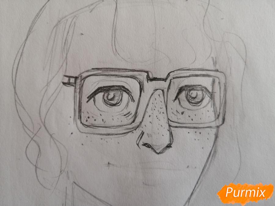 Рисуем Ричарда (Ричи) Тозиера из фильма Оно карандашами - шаг 2