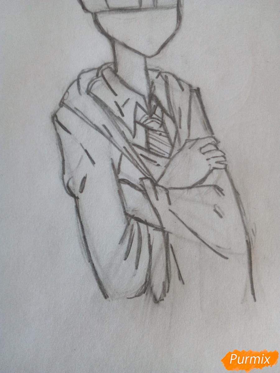 Рисуем Рона Уизли из фильма Гарри Поттер и тайная комната - шаг 5