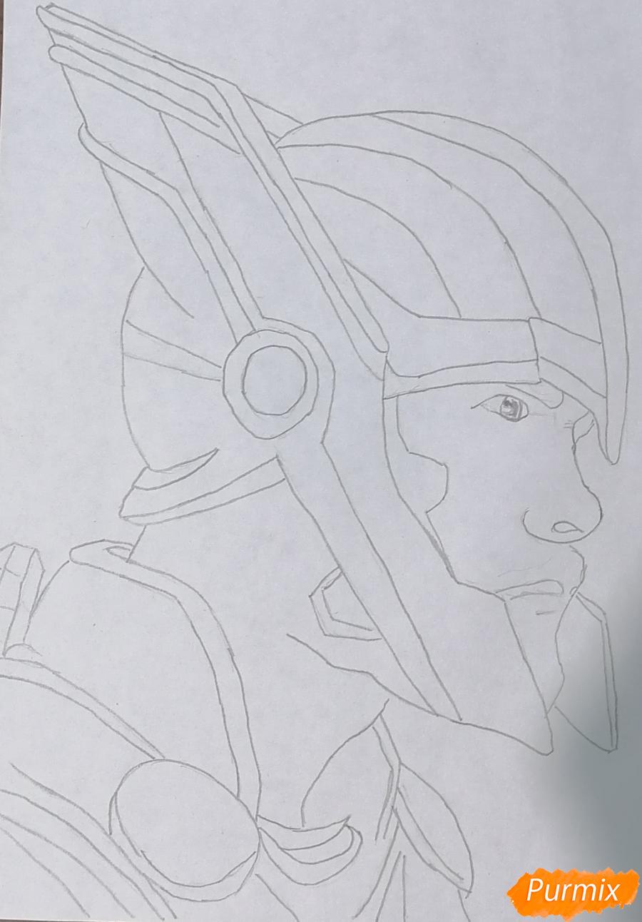 Рисуем Тора в шлеме - шаг 1