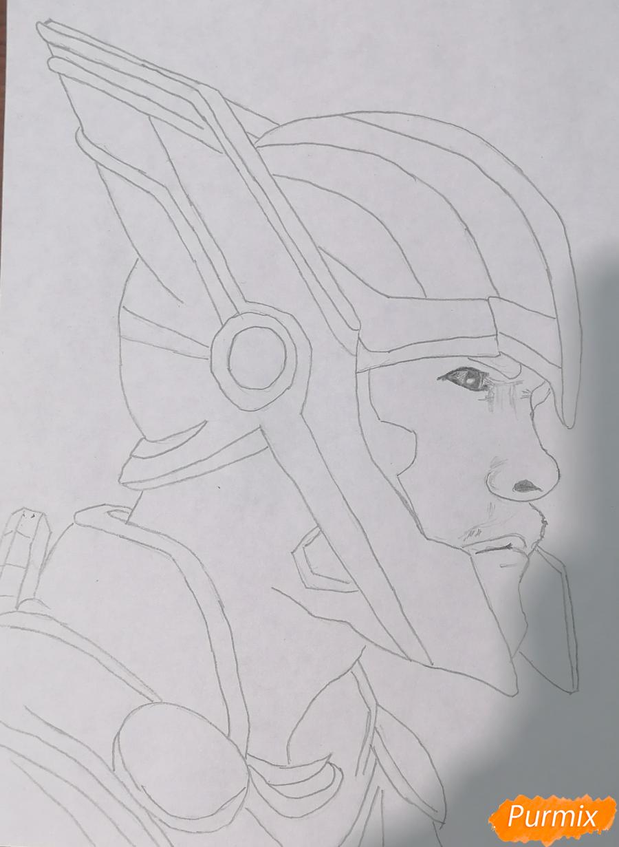 Рисуем Тора в шлеме - шаг 2