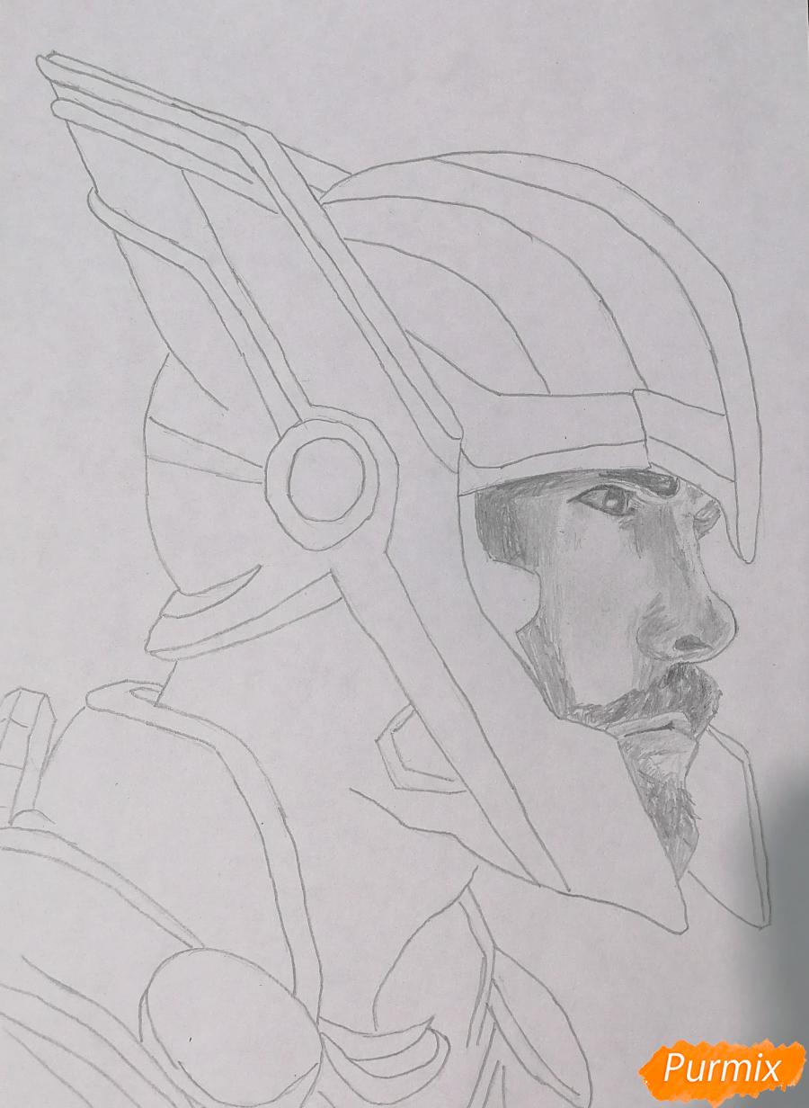 Рисуем Тора в шлеме - шаг 3