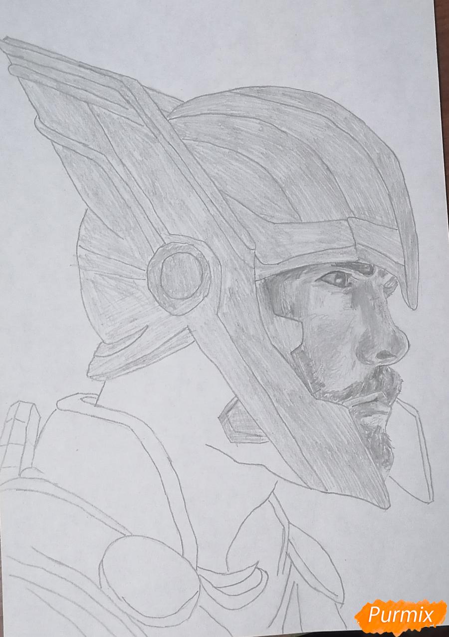 Рисуем Тора в шлеме - шаг 4