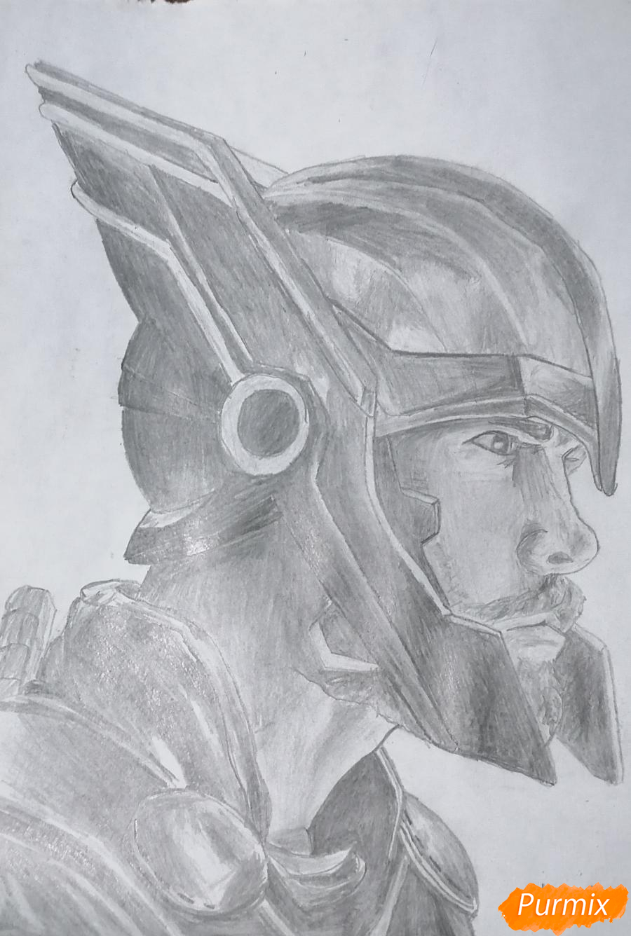 Рисуем Тора в шлеме - шаг 6