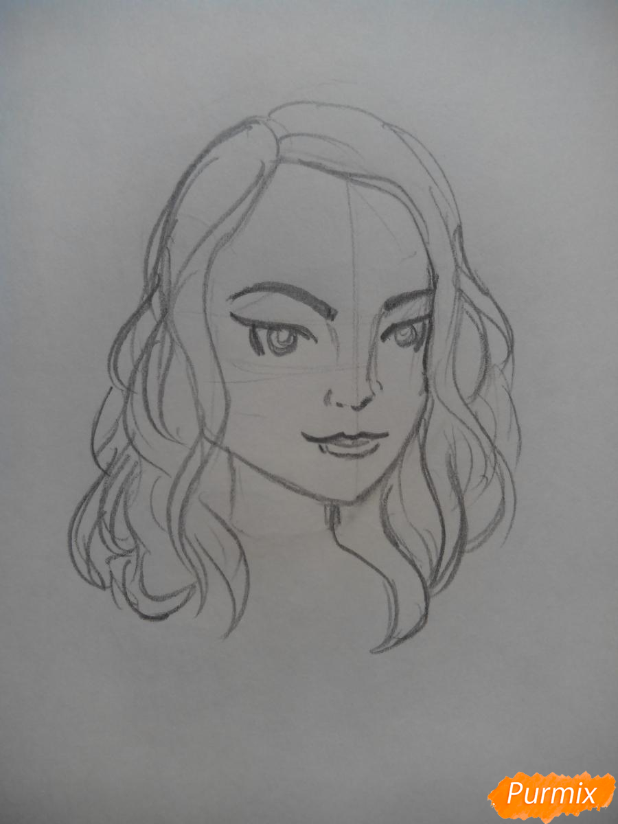 Рисуем Веронику Лодж из Ривердейл - шаг 3