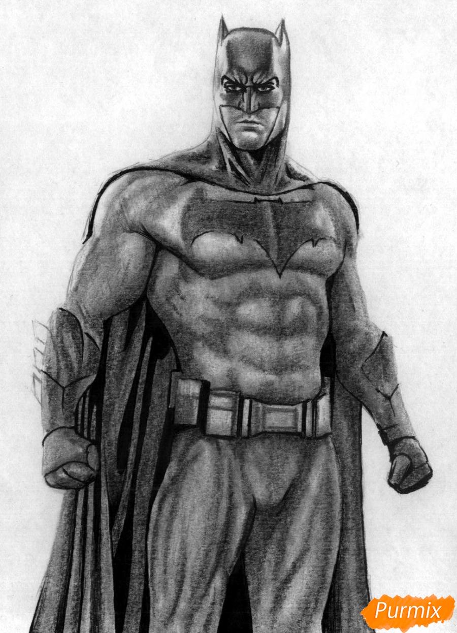 Рисуем Бэтмена из фильма Бэтмен против Супермена - шаг 5