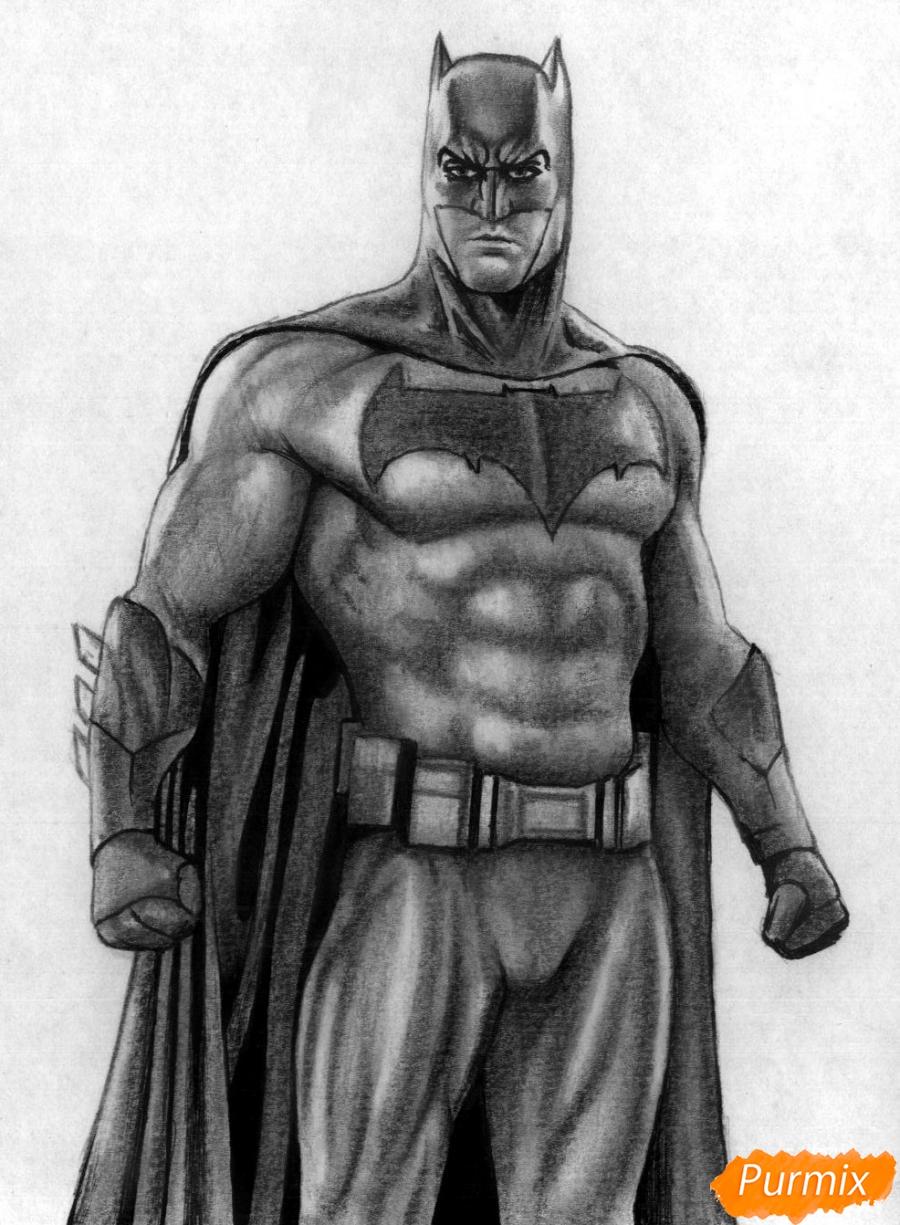 Рисуем Бэтмена из фильма Бэтмен против Супермена - шаг 6