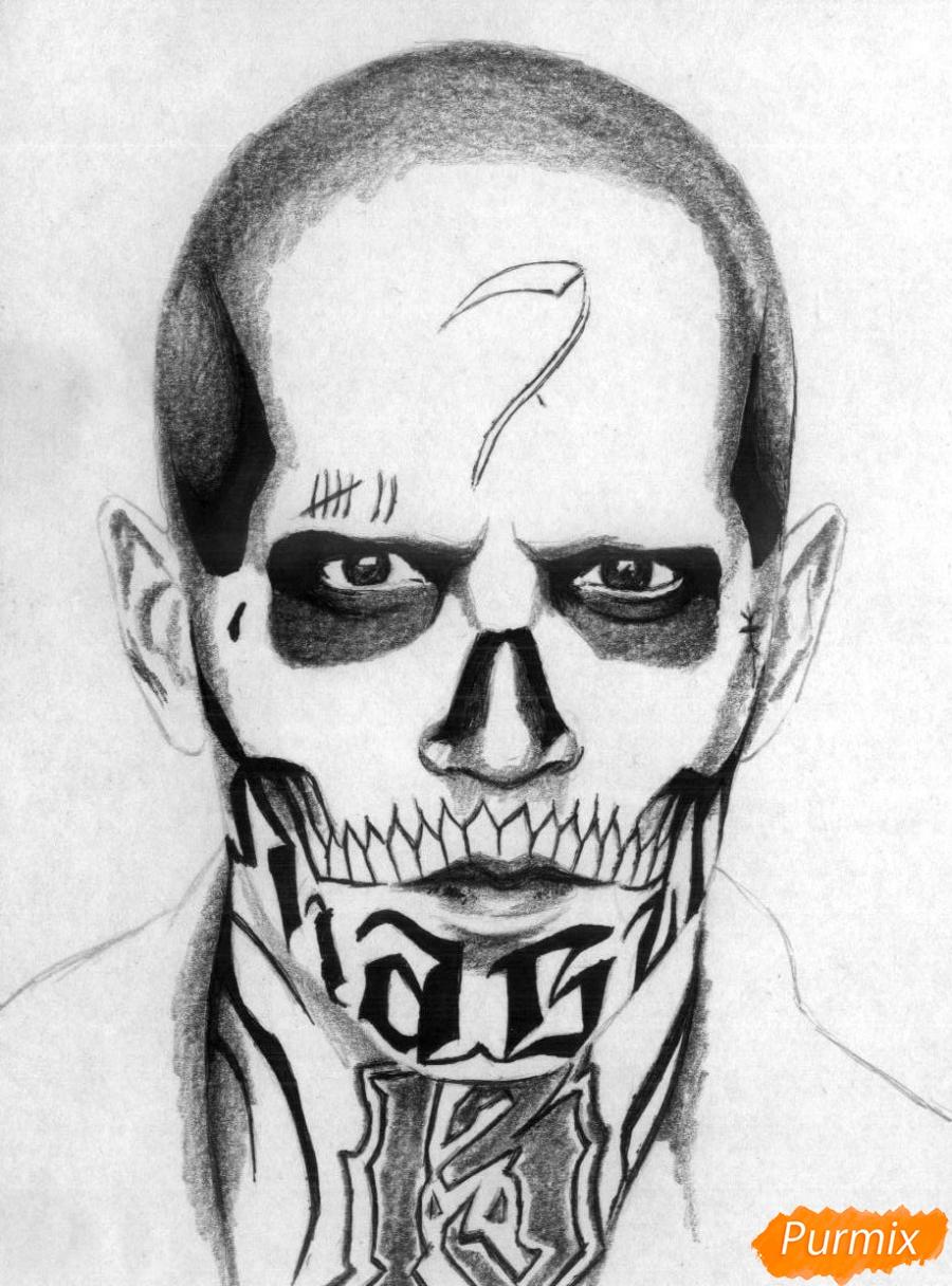 Рисуем Эль Диабло из фильма Отряд самоубийц  и ручкой - шаг 3