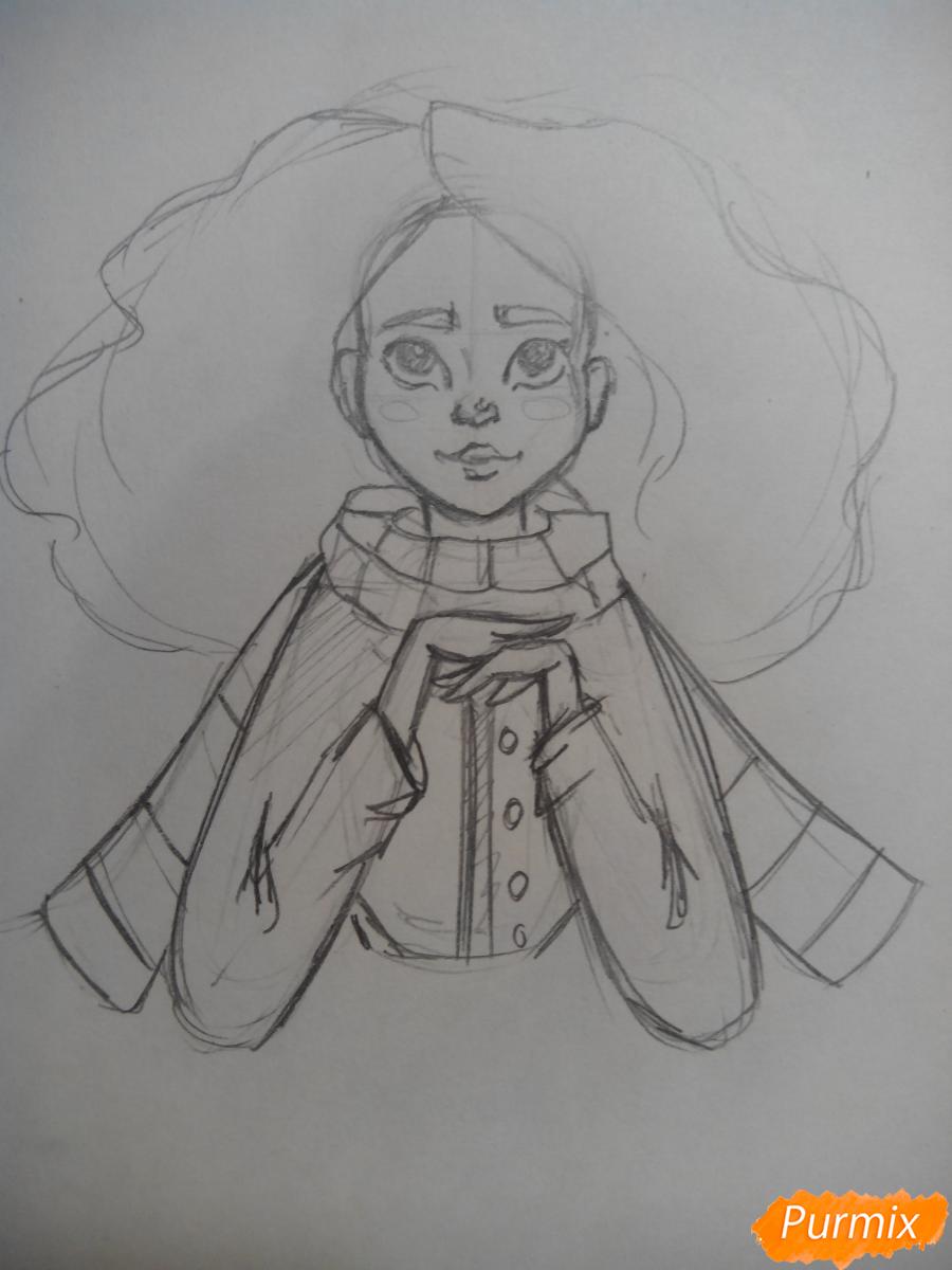 Рисуем портрет Гермионы Грейнджер - шаг 3