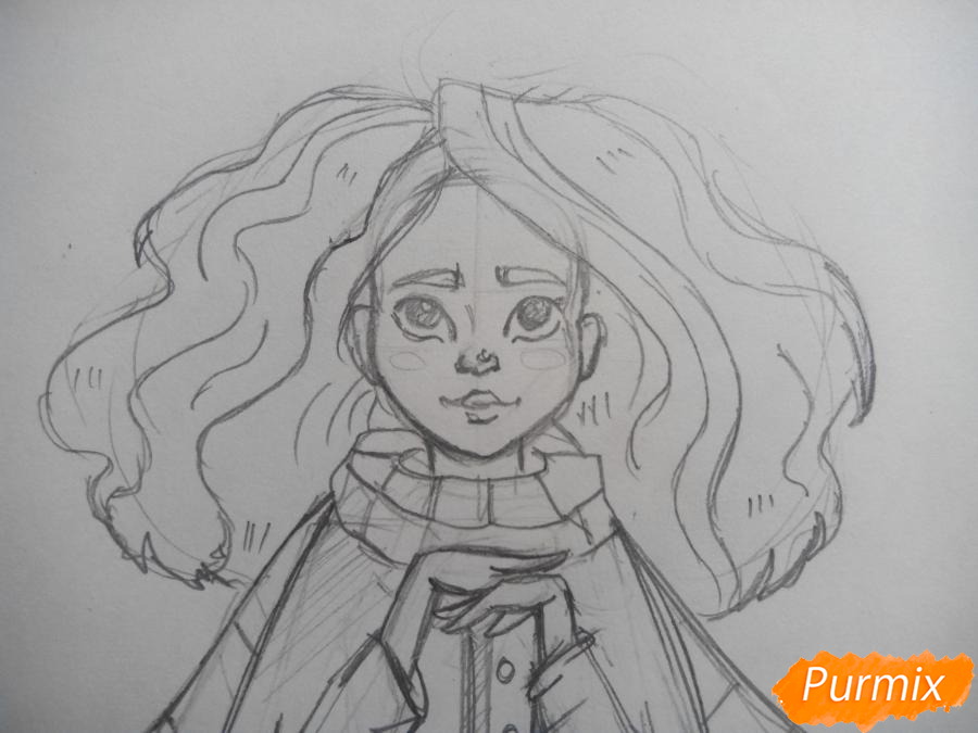 Рисуем портрет Гермионы Грейнджер - шаг 4