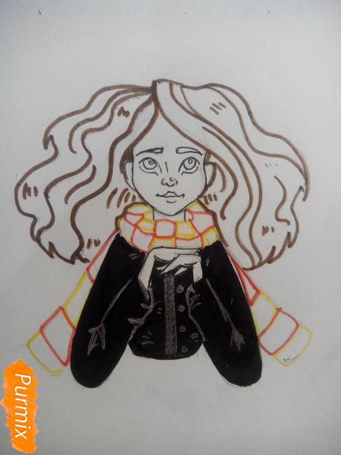 Рисуем портрет Гермионы Грейнджер - шаг 5