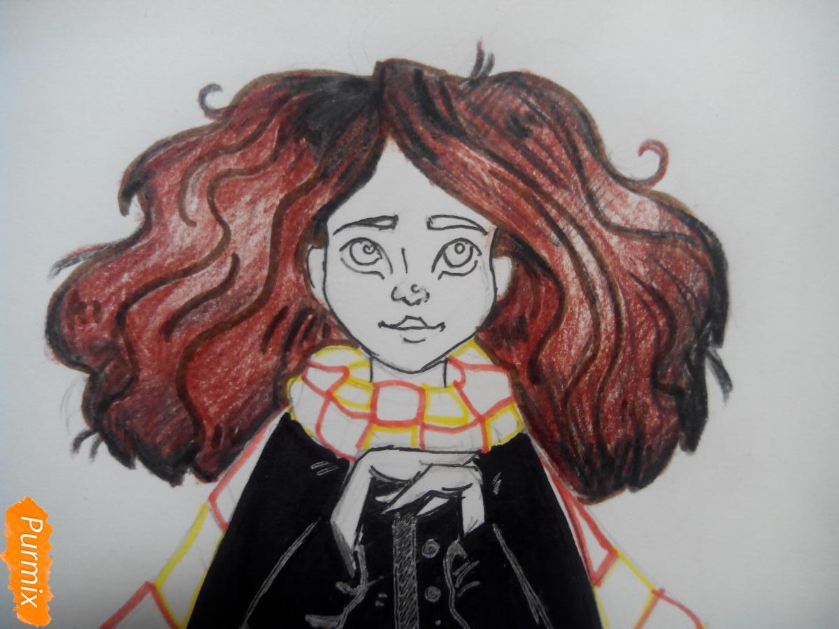 Рисуем портрет Гермионы Грейнджер - шаг 6