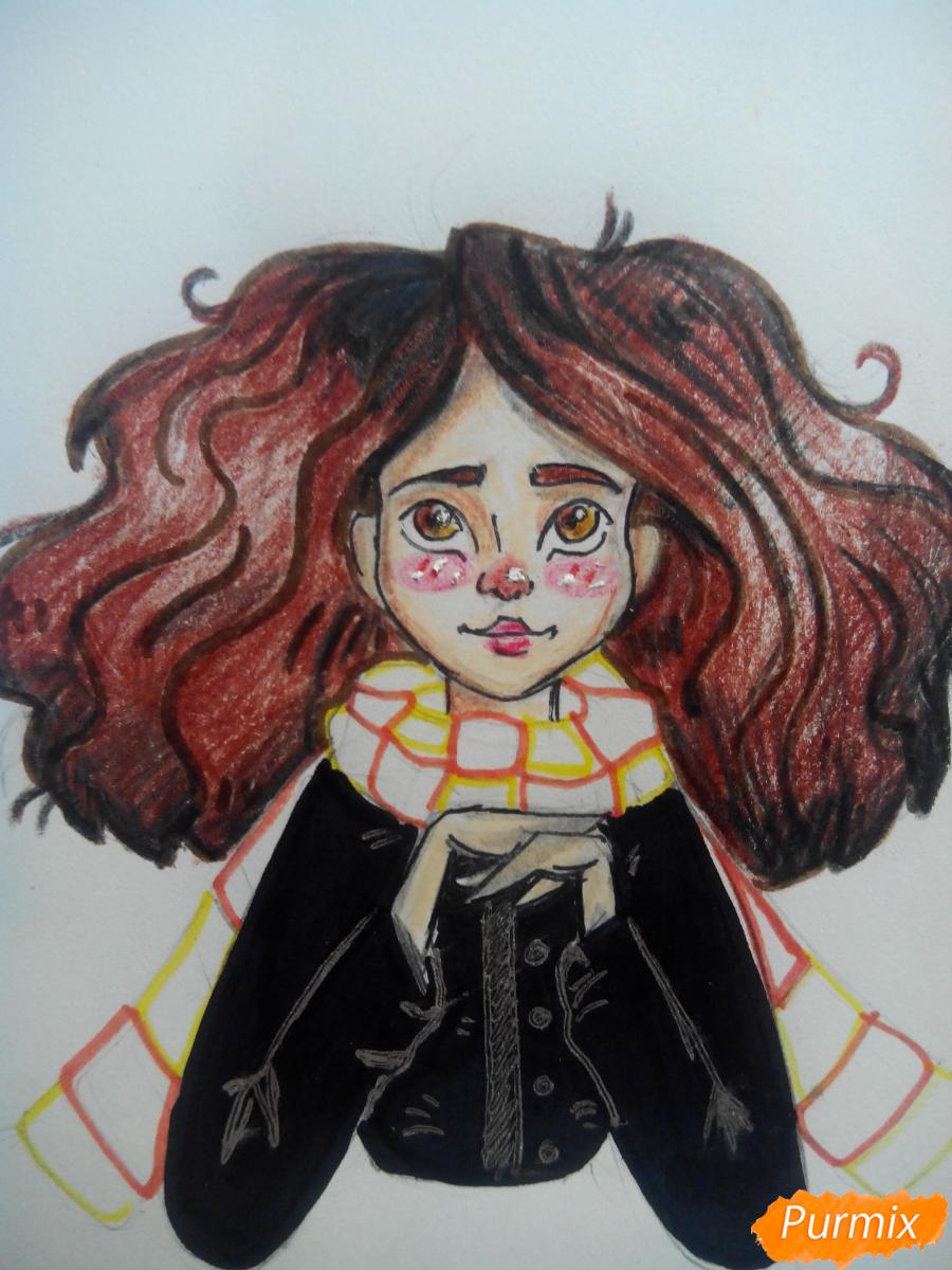 Рисуем портрет Гермионы Грейнджер - шаг 7