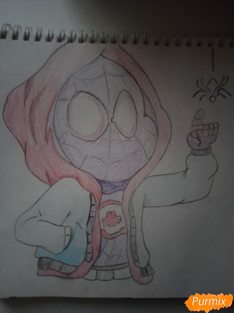 Рисуем простенький рисунок Человека Паука - шаг 6