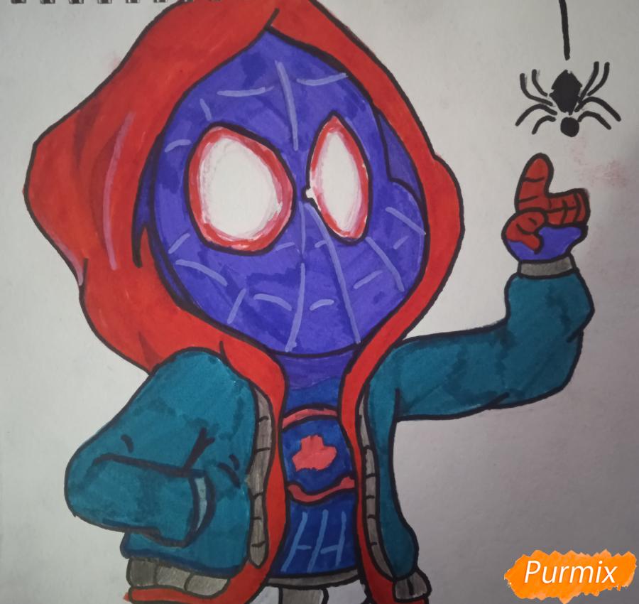 Рисуем простенький рисунок Человека Паука - шаг 7