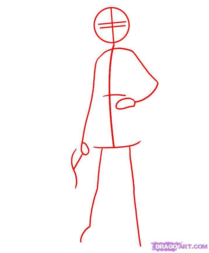 Рисуем Астрид из Как приручить дракона - шаг 1