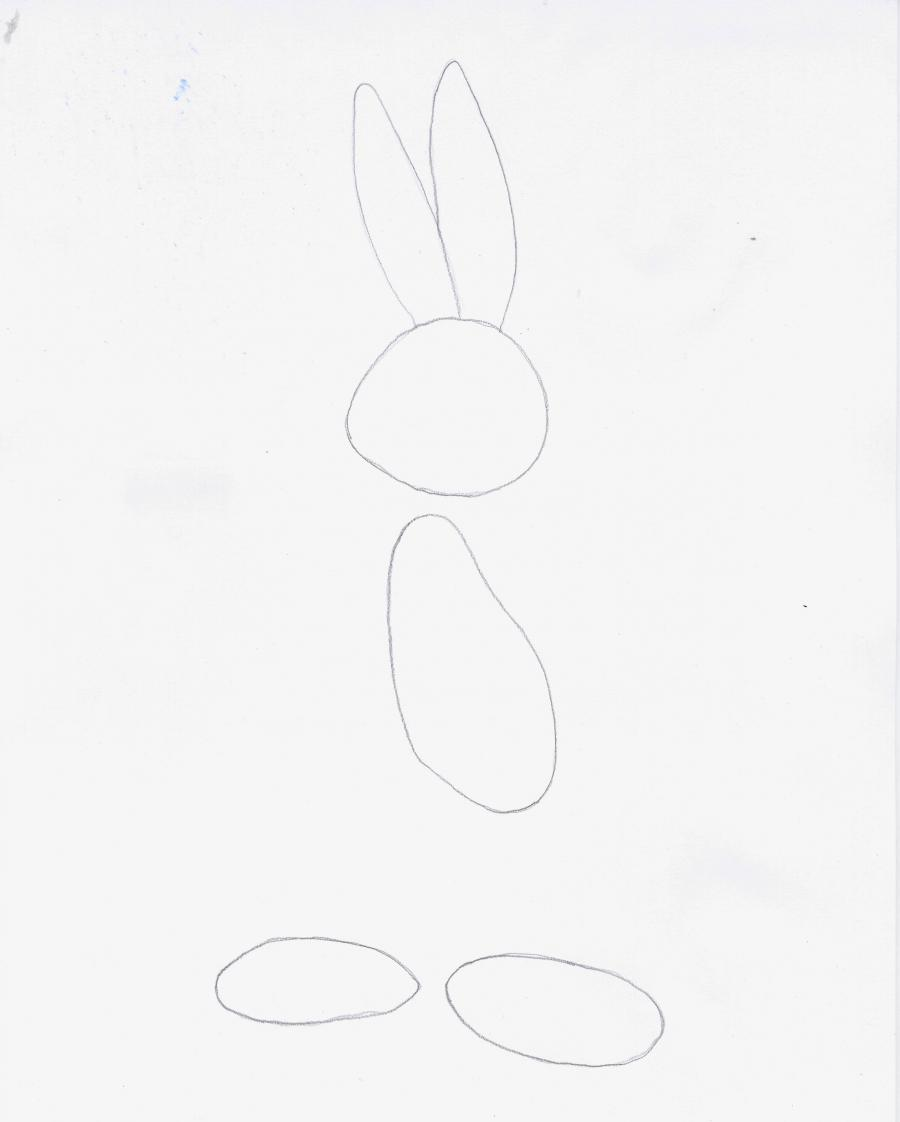 Рисуем Бакса Банни в полный рост - шаг 1