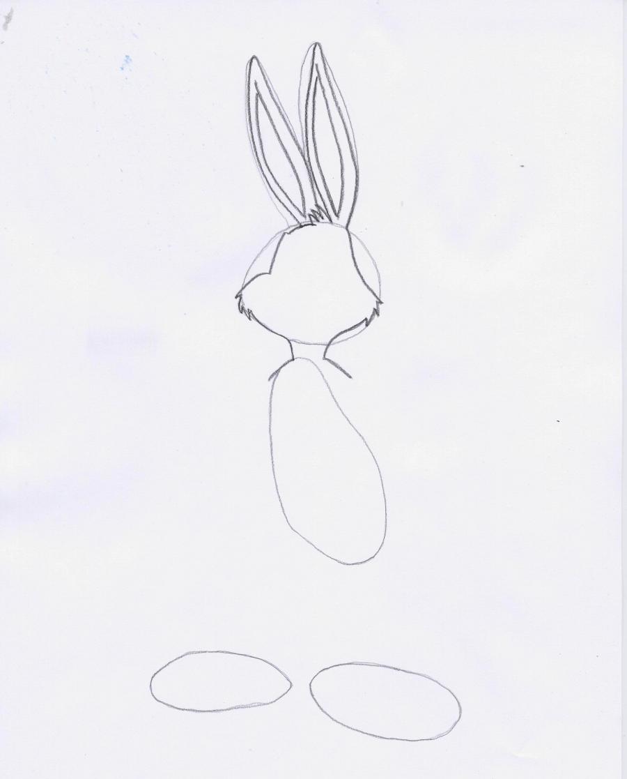 Рисуем Бакса Банни в полный рост - шаг 2