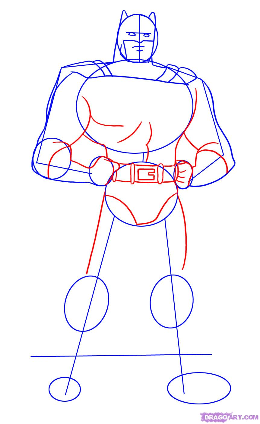Рисуем Бэтмена - шаг 3