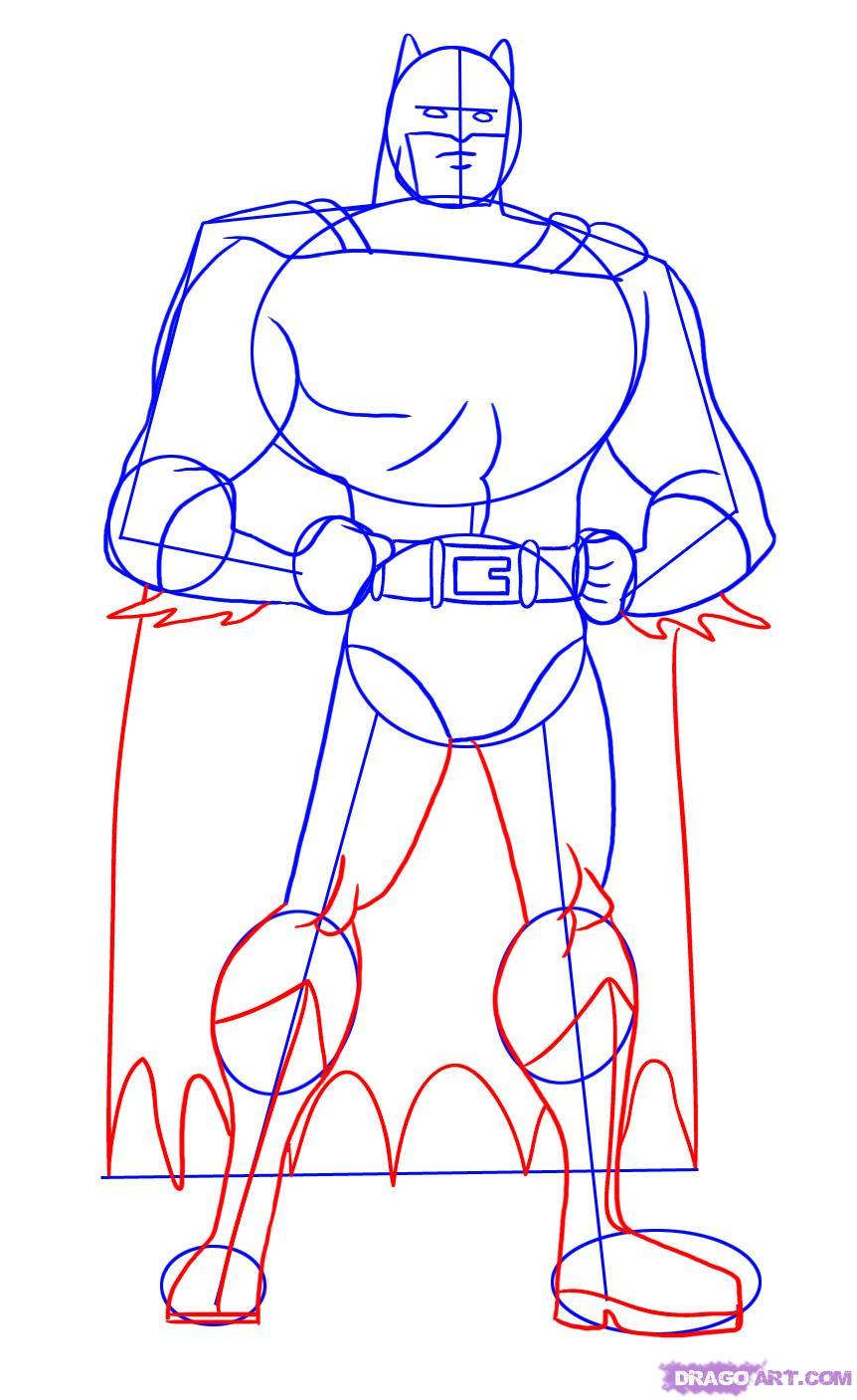 Рисуем Бэтмена - шаг 4