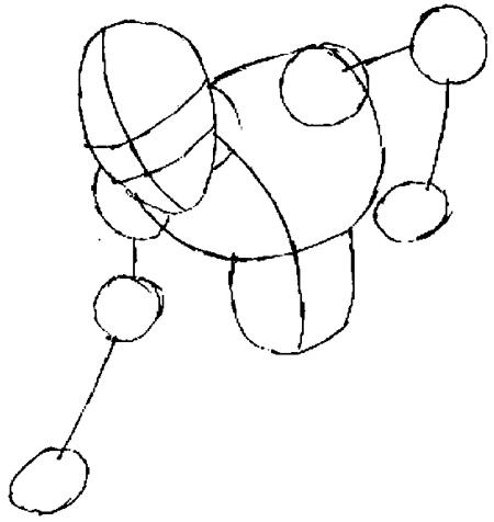 Рисуем человека паука для начинающих - шаг 3