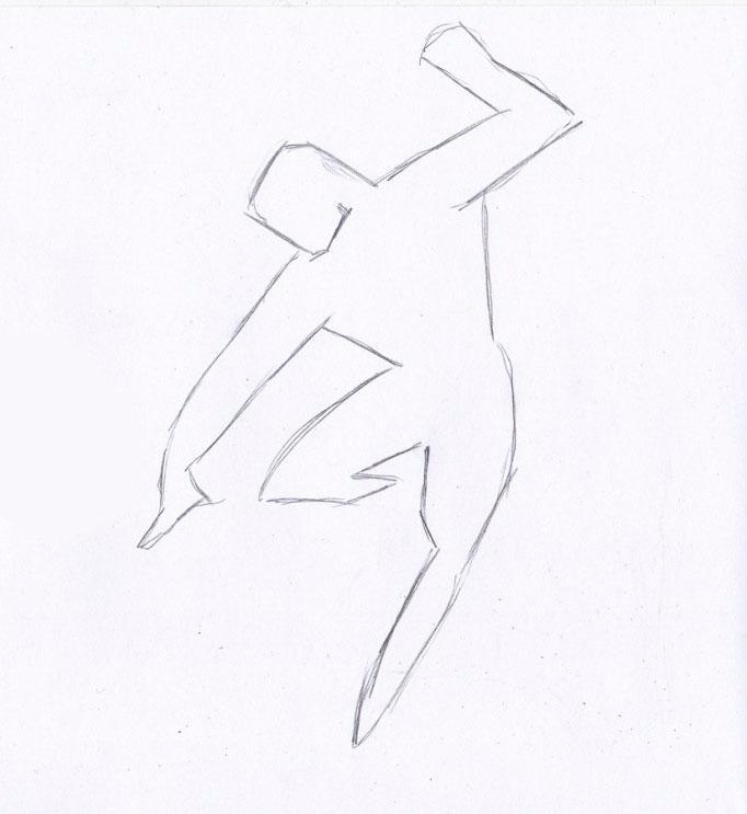 Рисуем Человека из стали - шаг 1