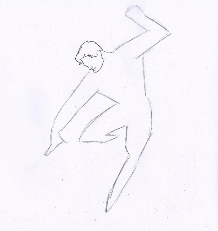 Рисуем Человека из стали - шаг 2