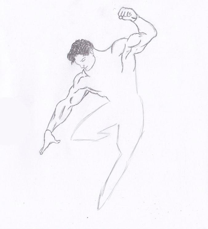 Рисуем Человека из стали - шаг 5