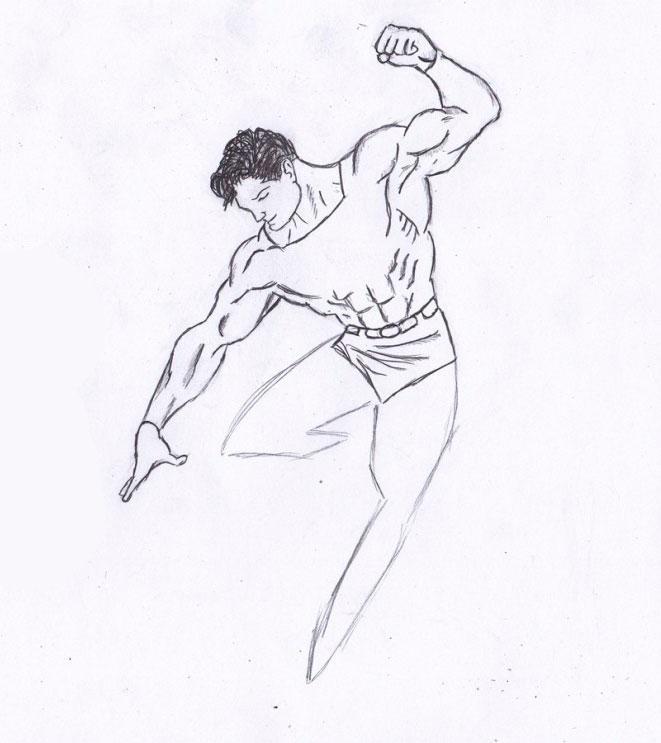 Рисуем Человека из стали - шаг 6