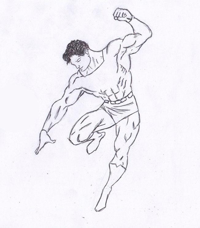 Рисуем Человека из стали - шаг 7