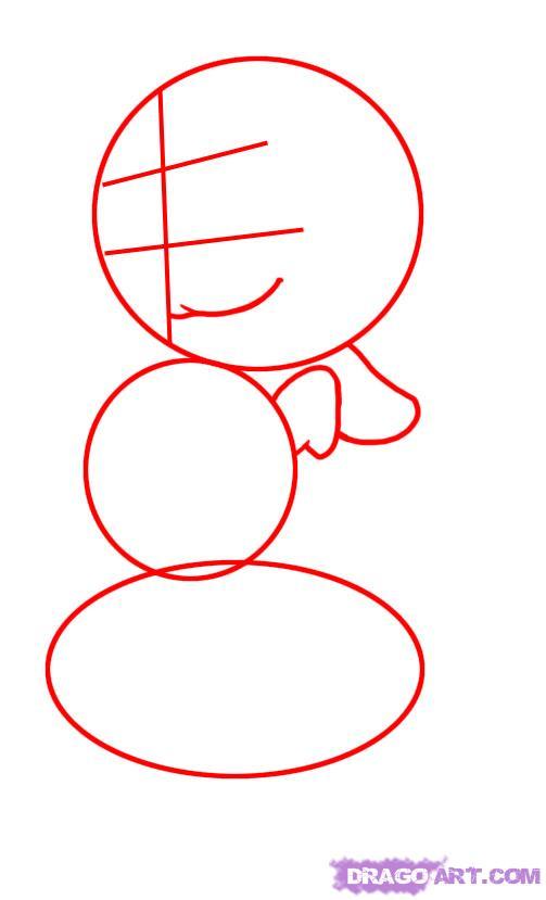 Рисуем Чипа из мультфильма Чип и Дейл спешат на помощь