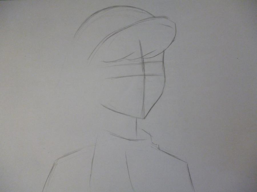 Рисуем Дафну Блейк из Скуби-ду - шаг 1