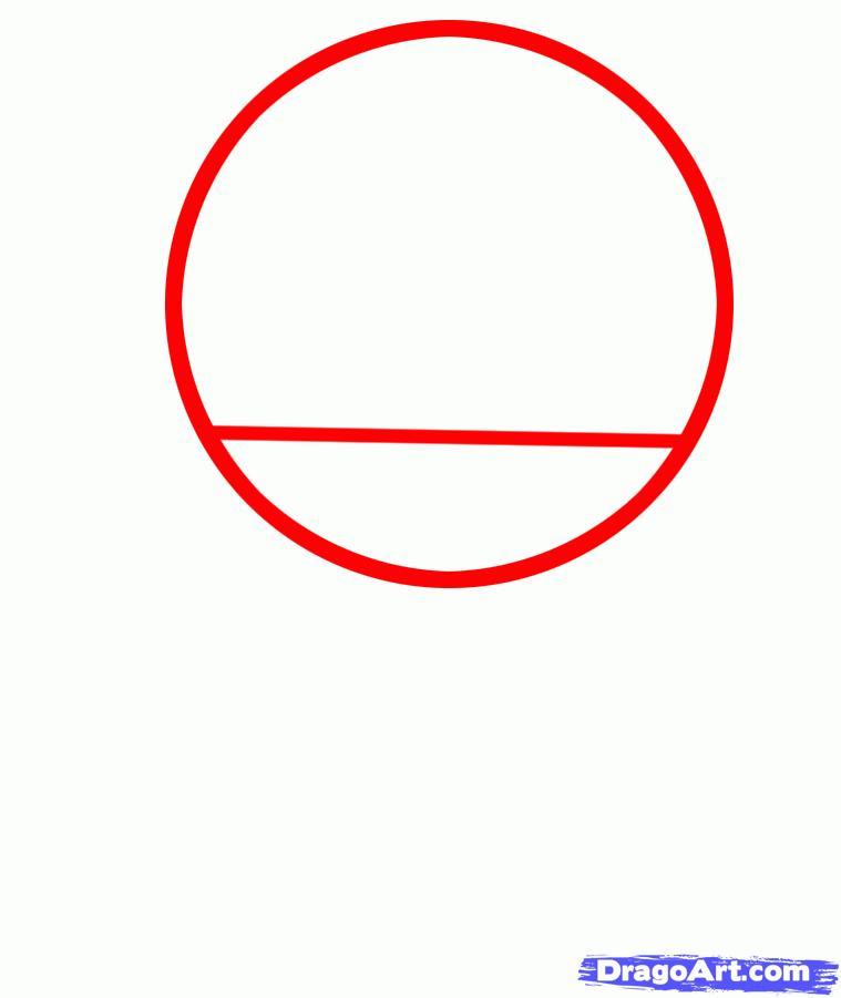 Рисуем голову Дэдпула - шаг 1