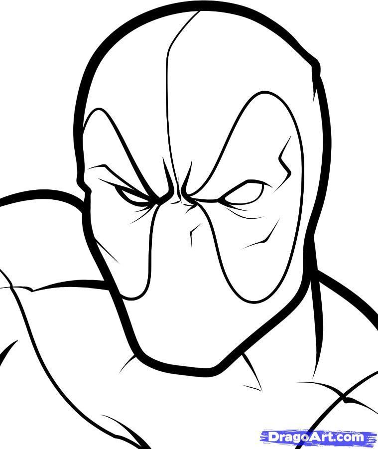 Рисуем голову Дэдпула - шаг 6