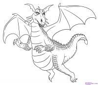 Дракона из мульт-ма Шрек карандашом