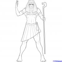 Фараона карандашом